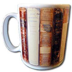 'Antique Austen Books' Jane Austen mug