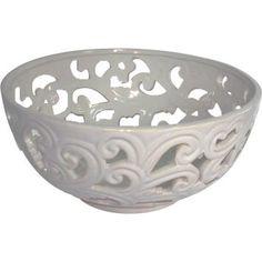 Bowl Cerâmica Br Recortado 25  cm