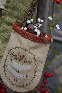 Christmas hanging bags by Hatched and Patched
