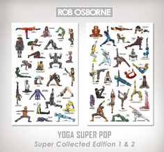 YOGA SUPER POP - Super Collected Edition 1 and 2 - 11x17 Art Prints by Rob Osborne