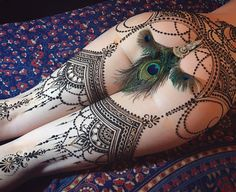 All mehndi (henna paste). Beautiful design, and canvas!