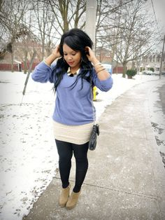 Pastel Blue and Lace Skirt