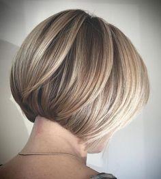 Concave Bob Hairstyles, Bob Hairstyles For Fine Hair, Modern Haircuts, Short Bob Hairstyles, Pixie Haircuts, Medium Hairstyles, Modern Hairstyles, Wedding Hairstyles, Braided Hairstyles