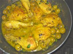 Poulet aux olives Algerian Recipes, Algerian Food, Tunisian Food, Lactose Free Recipes, Israeli Food, Diner Recipes, Ramadan Recipes, Cordon Bleu, No Cook Meals