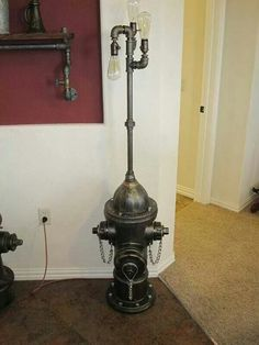 1960 fire hydrant lamp post