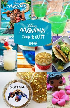 Disney Moana Crafts and Moana Food Ideas! Perfect for Moana party ideas!!