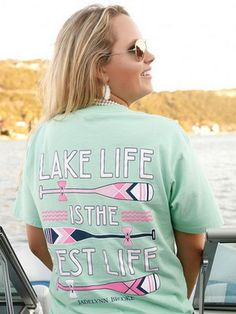 Jadelynn Brooke Lake Life Top - Mint from Chocolate Shoe Boutique