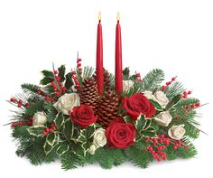 Christmas Wishes Centerpiece, take out the pine cones