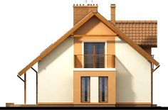 Detached house with attic and garage, intended for person family. Due to the clear layout of the premises and. Country House Plans, Wooden House, Design Case, Simple House, Home Fashion, Detached House, Building A House, Home Goods, New Homes