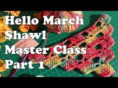 Hello March Shawl Master Class Part You can find how-to-crochet step by step, pattern and more photos of the shawl on my site: . Crochet symbols used in the video are: ch is a chain stitch dc is a double crochet tr is a triple crochet sc is a single Crochet Cape, Crochet Scarves, Crochet Shawl, Double Crochet, Crochet Clothes, Crochet Stitches, Crochet Flower Patterns, Crochet Flowers, Crochet Crocodile Stitch