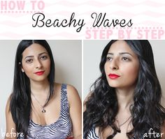 How To: Beachy Waves Step By Step Tutorial