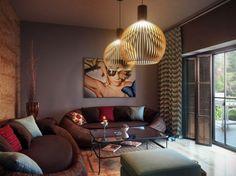 Wohnzimmer braun weiß Sofa rosa rot Farbe   living   Pinterest ...