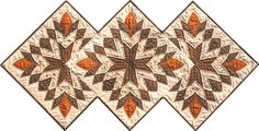 Cleopatra's Fan book, 10 acrylic templates, & Quick GripsThe scarcity of this pattern inspired Shar to create templates for this elegant and charming quilt block. Cleopatra's Fan,  Shar's template set, includes a 17 page full-color book with step-by-step instructions, 10 acrylic templates (which include the 1/4