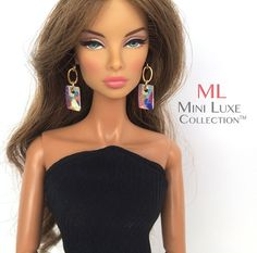 Doll Jewelry - Earrings - Fashion Royalty dolls, Poppy Parker, Barbie dolls, and Silkstone Barbie -- Mini Luxe Collection