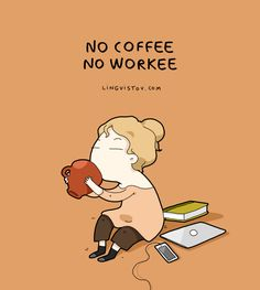 "Lingvistov illustrations Quotes About Coffee To Start Your Day Right"" is a funny post featuring cute and witty illustrations that anyone can relate to. Visit Lingvistov online store for more funny drawings. Coffee Talk, Coffee Is Life, I Love Coffee, My Coffee, Coffee Drinks, Morning Coffee, Coffee Cups, Coffee Lovers, Coffee Shop"