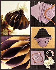 WABI SABI Scandinavia - Design, Art and DIY.: Saturday's fav Christmas Paper Ornament Tutorial