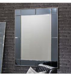Ballantrae Grey Coloured Glass Venetian Wall Mirror