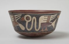 Early Intermediate, Nasca. Bowl with birds, A.D. 100–600. Ceramic with polychrome slip. South coast, Peru.