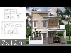 Home Design Plan with 4 Bedrooms Plot This villa is modeling by SAM-ARCHITECT With 2 stories level. It's has 4 bedrooms and 3 Bathrooms. Home Design Plan Description: T… House Plans Mansion, My House Plans, House Layout Plans, Duplex House Plans, Bedroom House Plans, House Layouts, Small House Plans, House Floor Plans, 2 Storey House Design