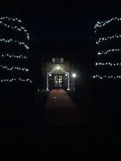 Denham golf club trees and entrance fairy lights