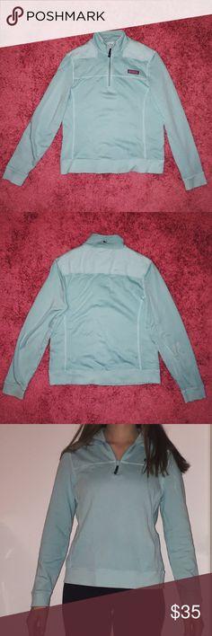 Vineyard Vines Shep Shirt Vineyard Vines Shep Shirt in Crystal Blue, quarter zip, barely worn, no flaws Vineyard Vines Jackets & Coats