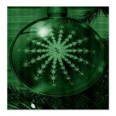 christmas green Shower Curtain