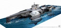 Futuristic military submarine design idea by ~NikYeliseyev on deviantART