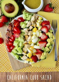 Gorgeous! California Cobb Salad with Tarragon Vinaigrette | iowagirleats.com