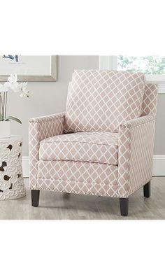 Safavieh Mercer Collection Buckler Club Chair, Peach Pink Best Price