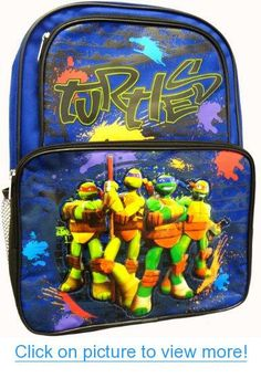 05898da8c2 Amazon.com  Teenage Mutant Ninja Turtles Large Cargo Backpack School Bag -  16 Inch  Sports   Outdoors