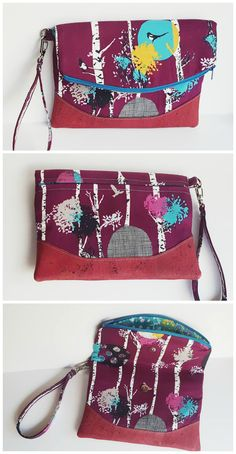 Free foldover clutch purse sewing pattern.  The Heidi bag from Swoon patterns.  Photos by Laura Dufresne