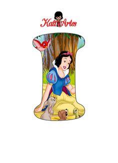 Alfabeto Disney, Snow White Birthday, Celebration Background, Cute Letters, Cake Decorating Videos, Preschool Crafts, Birthday Cards, Disney Princess, Disney Characters