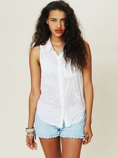 Free People Molly Jersey Knot Blouse, $29.95