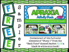 If you are one of the few people who haven't checked out my Interactive Apraxia Activities yet, here is a FREE sample, just for you!