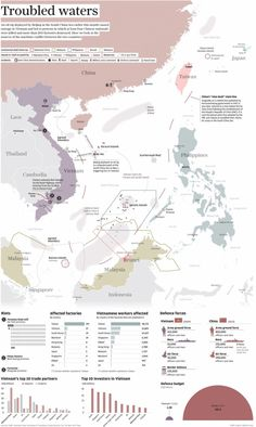 Infographic: Troubled waters by Adolfo Arranz. May South China Morning Post Information Visualization, Data Visualization, By Any Means Necessary, Asian History, British History, Map Design, Political Science, Planer, Vietnam