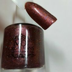 New! Prototype ~ red base with bronze gold colorshift, scattered holo & micro glitter Indie Nail Polish by MDJ Creations by MDJCreations on Etsy
