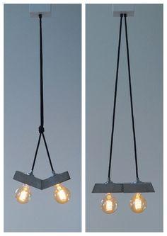 """Deckenlampen - """"papilio"""" Betonlampe. Hängelampe - ein Designerstück von Uniikat-Shop bei DaWanda ------------------------ Lamp, Lampe, Beton, Design, Concrete, Fabric Cable, concrete lamp, Hängelampe, pendant,  industrial, Lampe, Beton,  Textilkabel"""