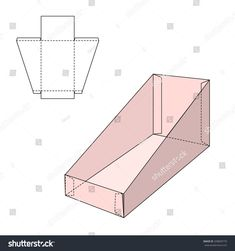 Vector Illustration of Gift craft Box for Design, Website, Background, Banner. Folding package Blank Displays Template. Empty Fold pack with die line for your brand on it