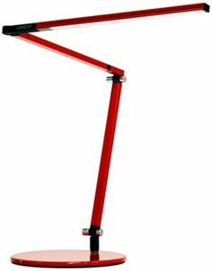 Koncept Gen 3 Z-Bar Red Warm Light Modern Desk Lamp - #EUX7074 - $248