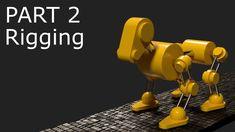 Blender Tutorial: Robot Dog Animation Part 2 - Rigging Blender Models, Blender 3d, Create Animation, Animation Film, How To Use Blender, 3d Computer Graphics, Blender Tutorial, How To Make Animations, Game Engine