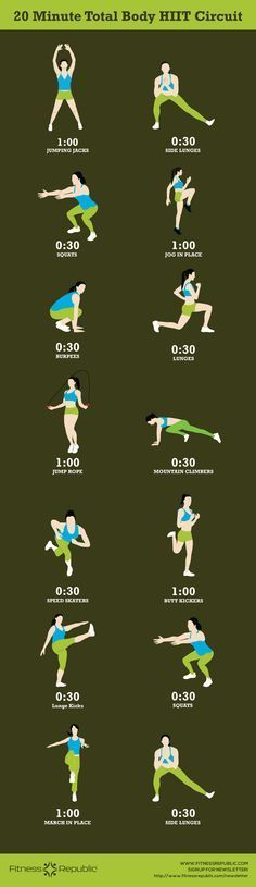 20-Minute Total Body HIIT Circuit  find more relevant stuff: victoriajohnson.wordpress.com
