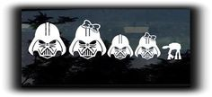 Star Wars Darth Vader Family Stickers For Cars  http://customstickershop.com