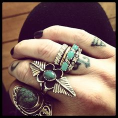 I am probably not cool enough to do all these at once, but I love the layering and these rings are beautiful!