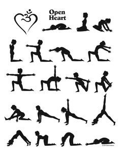 open heart yoga sequence infographic  yoga sequences