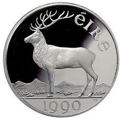 1990 Ireland ten ECU (European Currency Units) PROOF coin - normal reverse