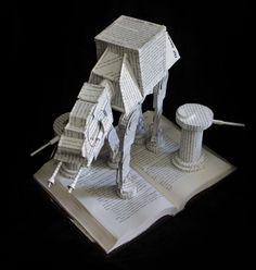 AT-AT Walker Book Sculpture by wetcanvas.deviantart.com on @deviantART