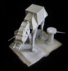 AT-AT Walker Book Sculpture by wetcanvas.deviantart.com on @deviantART
