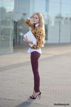 Heels and burgundy