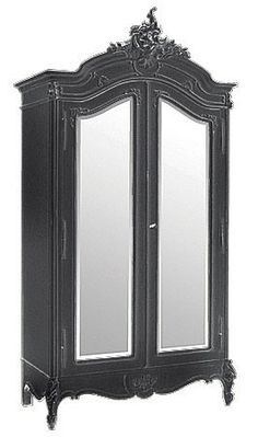 Antique Furniture Forceful Shabby Chic French Glass Armoire/cabinet