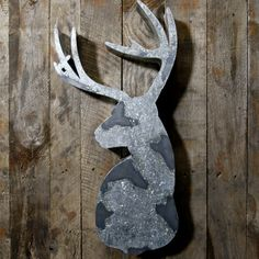A utilitarian taxidermy alternative hand crafted in galvanized steel Dimensions 60cm